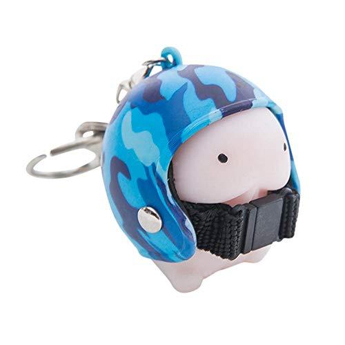 Firally portachiavi moto casco cartone animato bello casual squisito piccolo ornamento appeso regalo regalo di san valentino regalo di laurea pendente di keychain(multicolore-5)