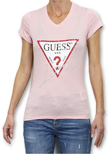 Guess Jeans W91I69K46D0 T-Shirt mit kurtzen Ärmeln Damen ROSA G615 M