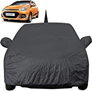 Autofact Car Body Cover for Hyundai Grand I10 with Mirror and Antenna Pocket (Light Weight, Triple Stitched, H