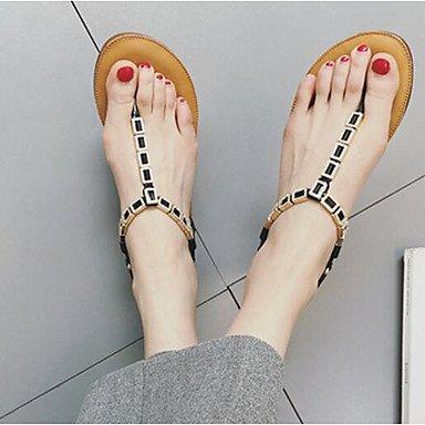 Sandales Pour Femmes Rtry Confort Pu Été Informal Confort Gris Noir Plat Doro Us7.5 / Eu38 / Uk5.5 / Cn38