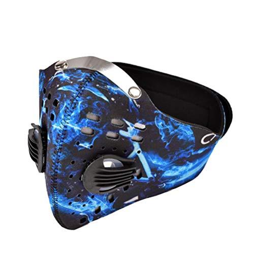 Sddlng Sport-Staubmaske, Fahrrad-Aktivkohle-Anti-Milben-Windschutz-Reitmaske 5-Lagen-Filtereinsatz,C
