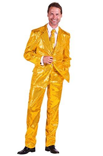 Pailletten-Anzug in gold | Elvis-Anzug 3tlg. für Karneval, -