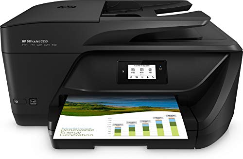 HP OfficeJet 6950 P4C85A Stampante Multifunzione a Getto di Inchiostro, Stampa, Scannerizza, Fotocopia, Fax, Wi-Fi, Wi-Fi Direct, 2 Mesi di Instant Ink Inclusi, Nero
