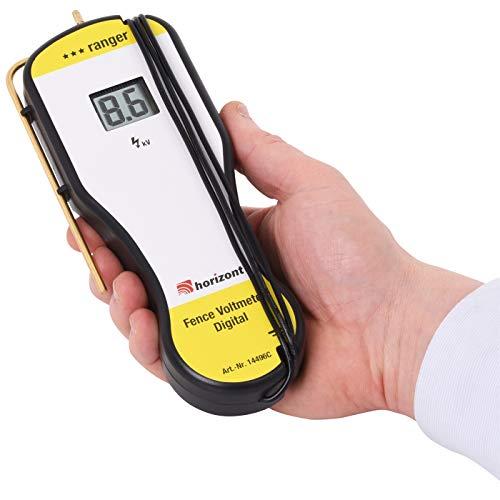 Digitaler Zaunprüfer, Digital-Voltmeter inkl. Tasche + Batterie