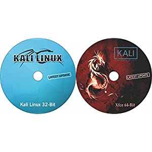 2-In-1 Combo Pack Kali Linux 32-Bit & Kali Linux xfce 64-Bit Bootable Installation DVD (latest version 2018.1)
