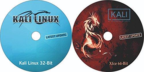 2-In-1 Combo Pack Kali Linux 32-Bit & Kali Linux xfce 64-Bit Bootable Installation DVD (latest version 2018.1)