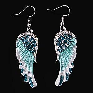 1 Paar Peacock Multicolor Feder Fashion Ohrhaenger
