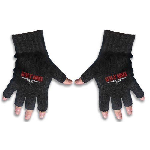 GUNS N ROSES    LOGO & PISTOLS  FINGERLESS GLOVES / Handschuhe
