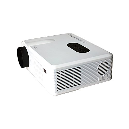 Cheapest Mileagea HD Projector Full Color Single LCD Panel LED Technology 720P 3000 Lumens Analog TV Multimedia Beamer Home Projector for Cinema Tablet Movie Online