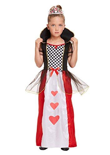 Kostüm Königin Kind Herzen Der Wunderland - GCC Fashion Store Kinder Mädchen Königin der Herzen Kostüm Alice im Wunderland Kinderbuchwoche Outfit