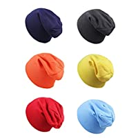 Sophie Land 6 Packs Baby Boys or Girls Beanies Hat Infant Toddler Cotton Beanie Kids Cool Knit Cap