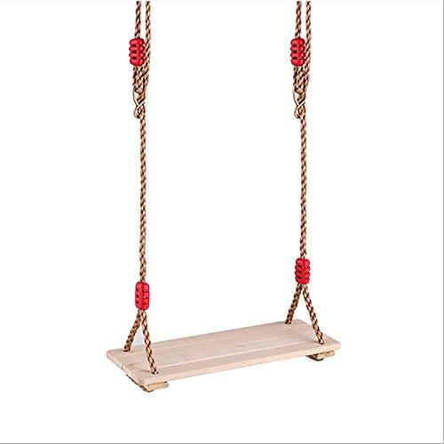 Oofay altalena in legno altalena in legno gioco da giardino in legno massello sedile regolabile a pendolo da gioco 40 * 16 * 1.2 cm