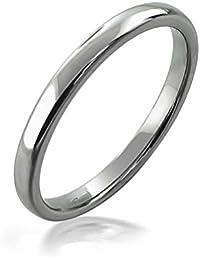Bling Jewelry Alto Pulido Unisex Anillo de Bodas de tungsteno de 2mm