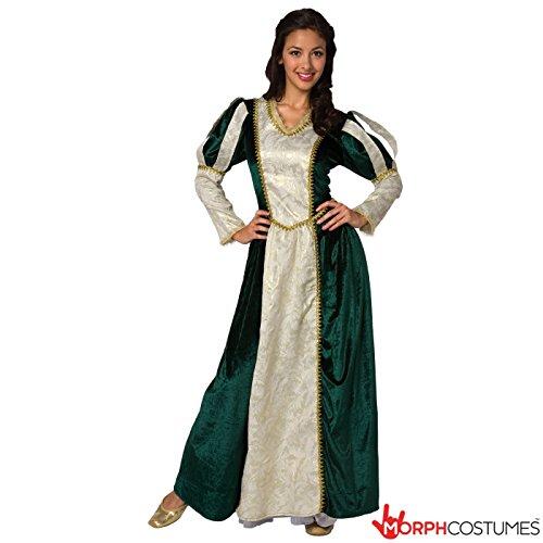 Mittelalter Königin Prinzessin Frauen Kostüm Medium (Kostüme Princess Nicht Halloween)