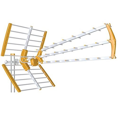 Tecatel ANT-BKM18 - Antena BKM Triple Plegable, Color Naranja