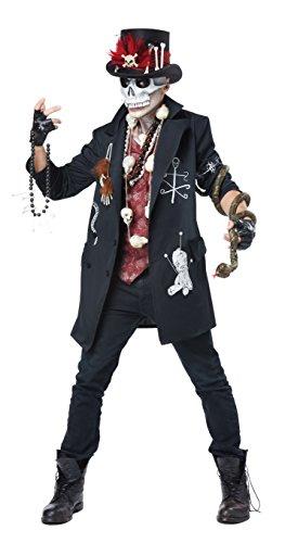 Schwarze Dude Kostüm - Voodoo Dude Adult Costume, Medium,