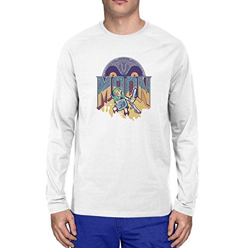 Planet Nerd - Link and the Dark Moon - Herren Langarm T-Shirt Weiß