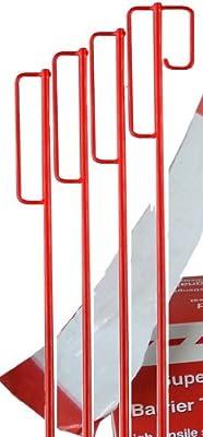Absperrhalter Absperrleinenhalter Stahl, Set mit 10 Stück - für Fangzaun, Flatterband, Warnband von HR Gruppe Deutschland GmbH bei Du und dein Garten