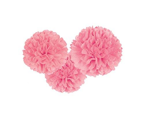 Kostüm Ball Girl Disco - amscan 3 Fluffy Dekobälle zum Aufhängen Rosa