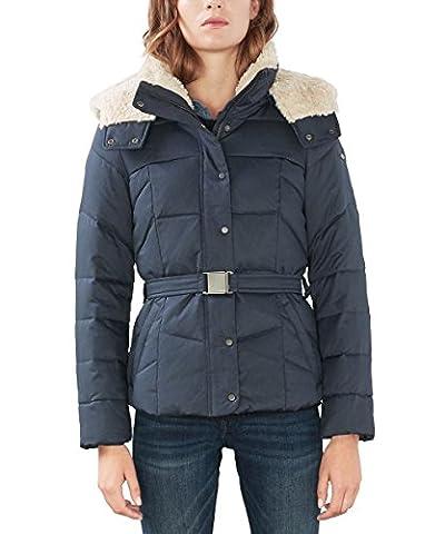 edc by ESPRIT Damen Jacke 106CC1G010, Blau (Navy 400), 36 (Herstellergröße: S)