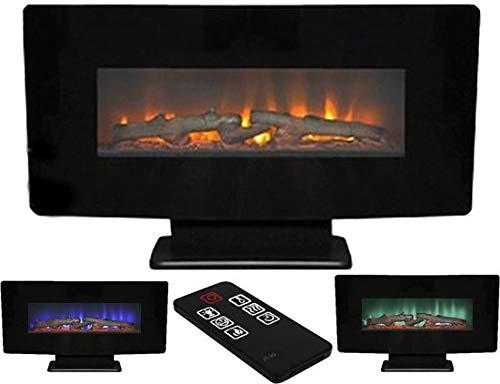 Classic Fire Calgary - Chimenea eléctrica (1400 W, con Fuego simulado y...