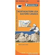Northeastern USA, Eastern Canada Regional Map 583 (Michelin Regional Maps) by Michelin (2013-06-17)