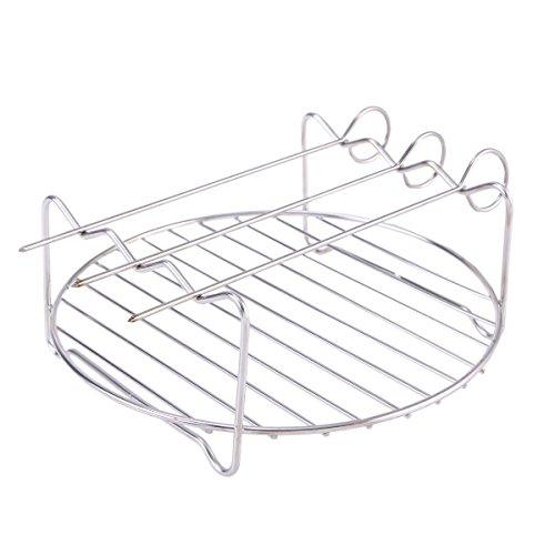 BESTONZON 4 Stücke Metall Regale Edelstahl Rösten Design Display Racks Premium Wandbehang Partition Pflanzenständer für Picknick Im Freien Mikrowelle (1 Stücke Regal und 3 Stücke Pins) -