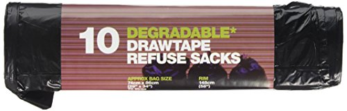 D2W Drawtape Refuse Sacks 10 Pieces (Pack of 6)