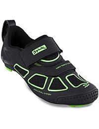 Spiuk Trivium Triathlon Zapatilla, Unisex Adulto, Negro/Verde / Negro, 43