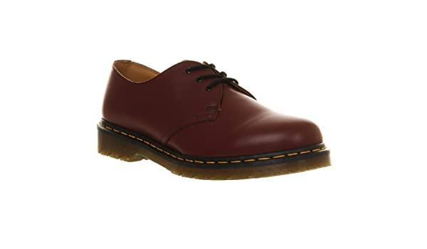 77350955510 Dr Martens 1461 Smooth Shoes (Cherry Red): Amazon.co.uk: Shoes & Bags