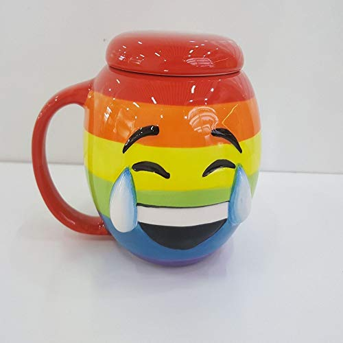 DORMFDU Becher Zunge-SpuckeExpression CupFarbeLächelndes Gesicht CupLustCool BudGlassesKreativitätZungenspuckenGeschenkeWeihnachtenHalloween, Tear, 301-400Ml