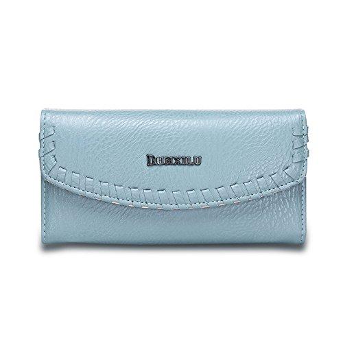 Portafoglio Donna , Le donne Cute borsa solida borsa Portafoglio Wearable, Nero Blue