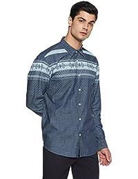 Pepe Jeans Men's Plain Slim Fit Cotton Casual Shirt