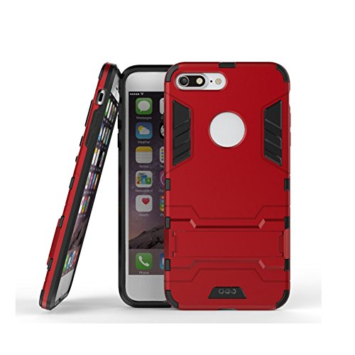 Coque iPhone 8, AVIDET TPU+PC Back Coque / Etui hybride anti-choc (Or) Rouge