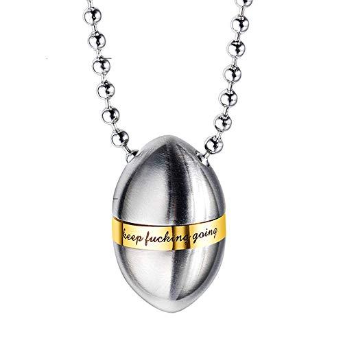 Urne Medaillon,Asche, Inspirierende Titan Stahl Halskette personalisierte Runde Asche Anhänger Trichter FüLlen-Kit Inklusive -