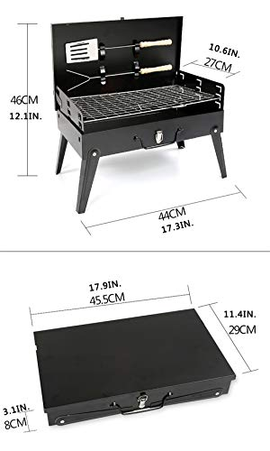 LHY TRAVEL Camping Outdoor Grill Multi-Person Faltbare Mini Home Picknick Set Holzkohlegrill Familie im Freien Kochen Reise
