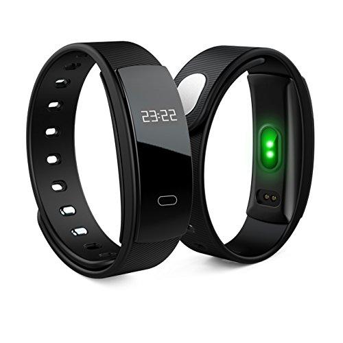 ANSCIO Fitness Tracker Herzfrequenz Monitor Tracker Schlaf Monitor Smart Watch für iPhone Samsung und andere Android oder iOS Smartphones für Erwachsene Kinder