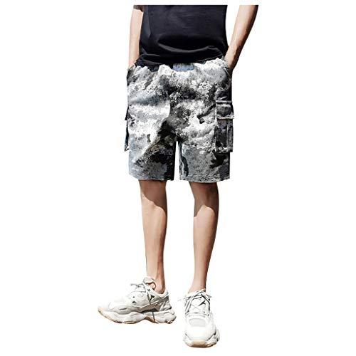 WQIANGHZI Shorts Herren Sport locker Lässig Camouflage Tooling fünf Punkte Jogginghose Freizeithose Kurze Hosen Overalls Fashion Multi-Pocket-Hosen Trainingshose Bermuda-Shorts 5-pocket-classic-capris