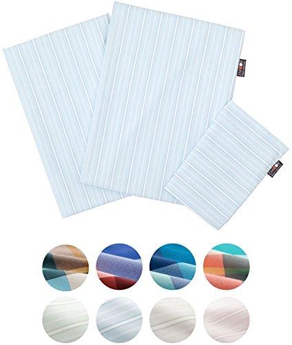 Polyester-twin-size-tröster (emoor chemikalienfreie Antimilben gestreift 3er Set