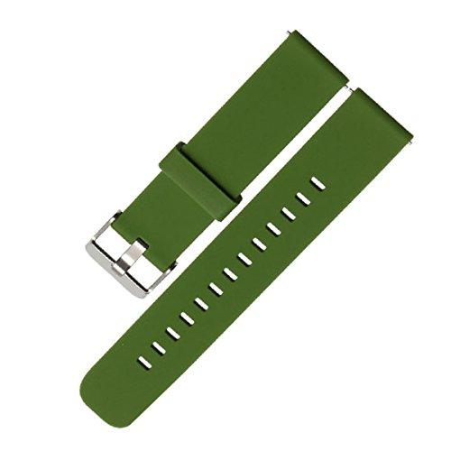 D&L 18 20 22 mm Soft Silikon Armband, Uhrenarmband, Weiche Gummi Uhr Band Ersatzarmband für Herren/Damen Uhren. Schwarz, Rot, Blau, Grün, Grau, Weiß. 1 Stück / 3 Stück - D 18 Grün