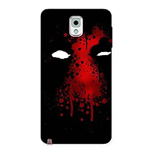 Red Horror Back Case Cover for Galaxy Note 3