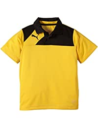 Puma Polo Esquadra Leisure - Polo para niño, color amarillo, talla 152 cm