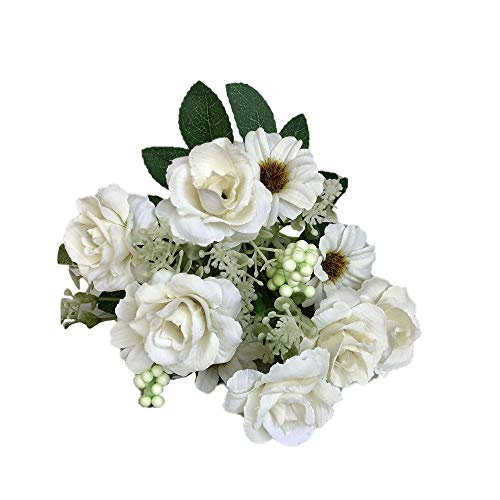 Yazidan Künstliche gefälschte Rose Flower Bridal Bouquet Hochzeit Party Decor Vintage Künstliche Seidenblumen Bouquet zur Dekoration Künstliche Blume Blumenstrauß Für Party Fest Haus Büro Bar Dekor