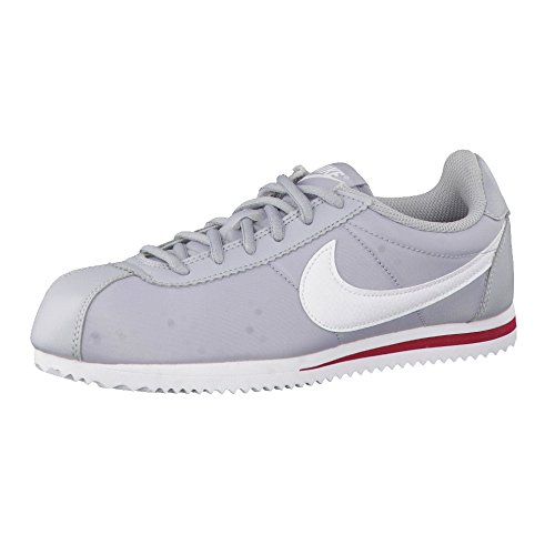 Nike Cortez Nylon (Gs), Chaussures de Running Entrainement Homme Gris (Gris (wolf grey/white-team red))