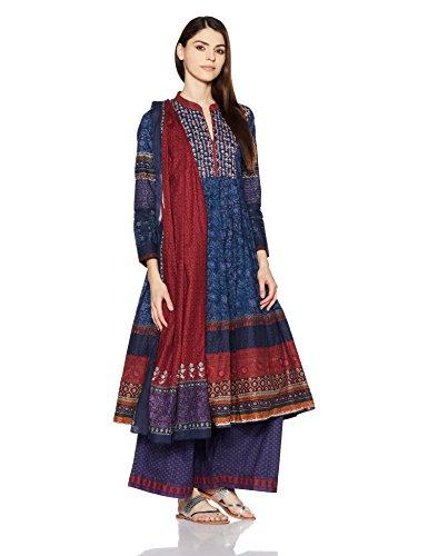 BIBA Women's Anarkali Salwar Suit (SKD5238_BLU_38)