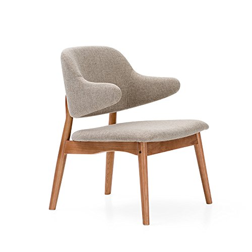 MAZHONG Hocker Stoff Stuhl Sessel Restaurant Wohnzimmer Lounge Büro Moderne Möbel - Farben ( Farbe : Grau ) -