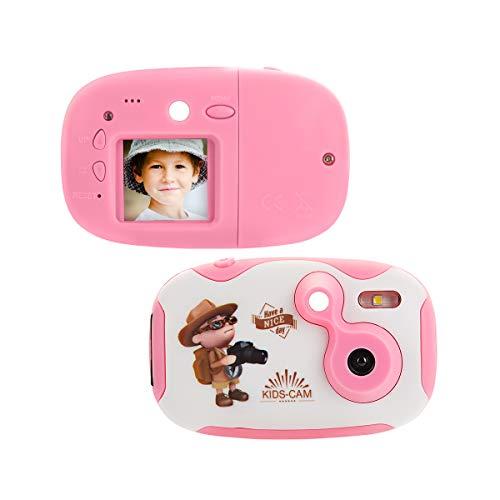 """Upgrow Kinder DIY Kamera Kind Digital Kamera 1.44"""" Bildschirm 2 Megapixel Mini Camcorder Kompakt Kamera, Spielzeug und Geschenk für Kinder (Rosa DIY)"""
