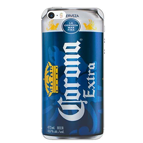 iPhone 5/5s Bier Silikonhülle / Gel Hülle für Apple iPhone 5s 5 SE / Schirm-Schutz und Tuch / iCHOOSE / Corona