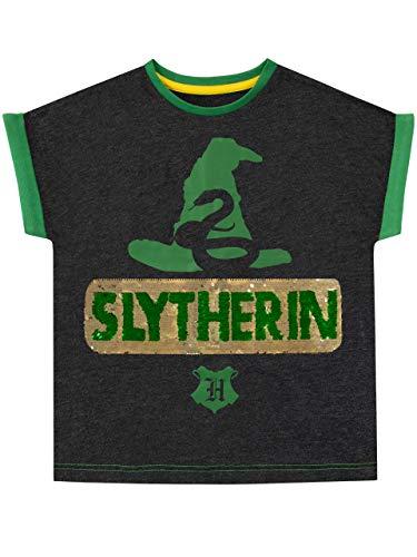 HARRY POTTER Mädchen Slytherin T-Shirt Grün 140