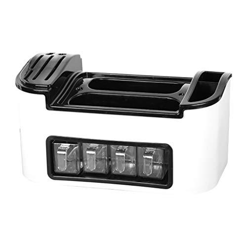 Luccase PP Küchenregal Einteilige Gewürzdose 37 X 19 X 28cm Multifunktions Küche Lagerregal Organizer Spice Zuhause Seasoning Box Werkzeuge (Weiß)